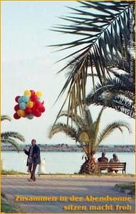 Paar und Luftballonhaendler
