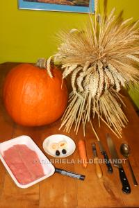 Zutaten für Halloween Deko